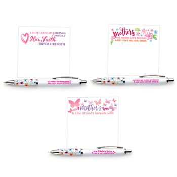 Mothers Pen & Sticky Pad 24-Piece Assortment Pack
