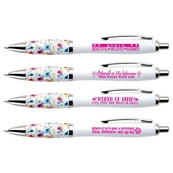 Floral Grip Pens For Women 25-Piece Assortment Pack