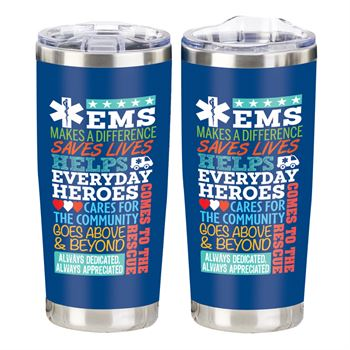 EMS World Cloud Full-Color Insulated Tumbler 20-Oz.