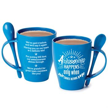 Awesome Happens Only When We Comes Before Me Eco-Friendly Wheat Mug 12-Oz. With Spoon
