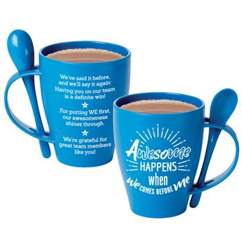 Awesome Happens When We Comes Before Me Eco-Friendly Wheat Mug 12-Oz. With Spoon