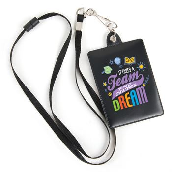 It Takes A Team To Help Children Dream Combo ID/Badge Holder With Lanyard