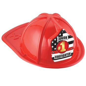 #1 Junior Firefighter Hat (Red)