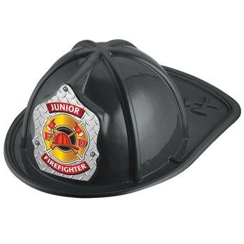 Gold Maltese Cross Junior Firefighter Hat (Black)