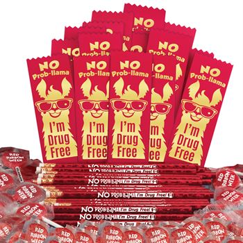 No Prob-llama I'm Drug Free 300-Piece Theme Kit