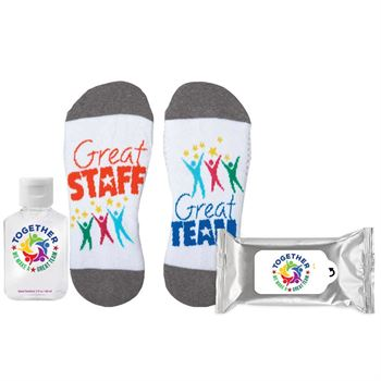 Together We Make A Great Team Sock It To Germs Praise & Protection Kit