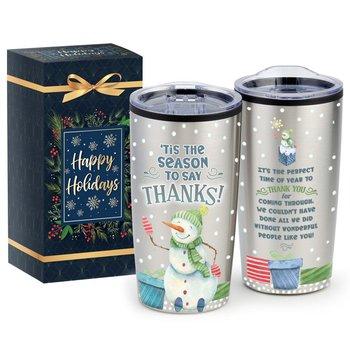 'Tis The Season To Say Thanks Teton Stainless Steel Tumbler 20-Oz. In Holiday Gift Box