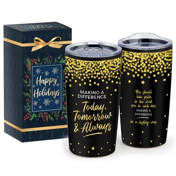 Making A Difference Today, Tomorrow & Always�Teton Stainless Steel Tumbler 20-Oz. In Holiday Gift Box