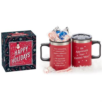 We Appreciate Your Commit-MINT Sonoma Mug 12-Oz. With Mint Treats in Holiday Gift Box