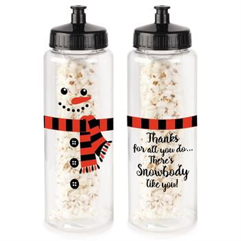 Thanks For All You Do... Snowman Water Bottle 32-Oz. With White Cheddar Popcorn