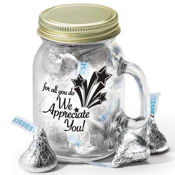 For All You Do We Appreciate You! Mini Mason Jar Mug & Hershey's® Kisses®