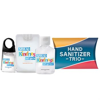 Spread Kindness Not Germs Sanitizer Trio