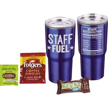 Staff Fuel Perk Me Up Timber Tumbler 4-Piece Gift Set