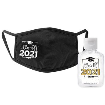 Class Of 2021 Mask & Sanitizer Protection Kit