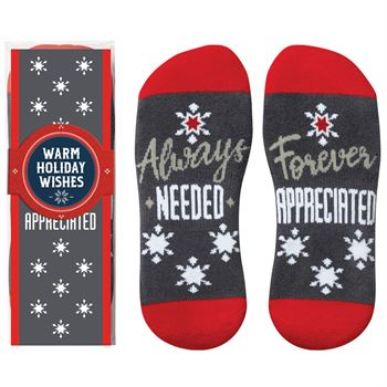 Always Needed, Forever Appreciated �Toe�-tally Awesome Ankle Socks Gift Set With Holiday Gift Wrapper