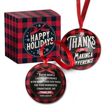 Thanks For Making A Difference Metal Ornament With Hershey's® Holiday Miniatures Chocolates In Holiday Gift Box