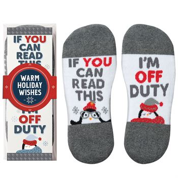 If You Can Read This, I'm Off Duty �Toe�-tally Awesome Ankle Socks Gift Set With Holiday Gift Wrapper