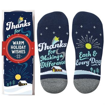 Thanks For Making A Difference Each & Every Day �Toe�-tally Awesome Ankle Socks Gift Set With Holiday Gift Wrapper