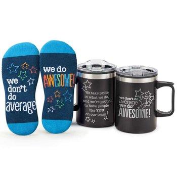 We Don't Do Average, We Do Awesome! Sonoma Mug & Socks Gift Set