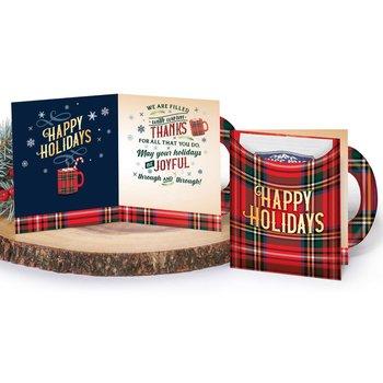 Happy Holidays Mug-Shaped Greeting Card With Hot Chocolate
