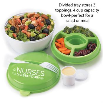 Nurses: It's In Our Nature To Care Blue Harvard Lunch/Cooler Bag & Round Food Container Combo