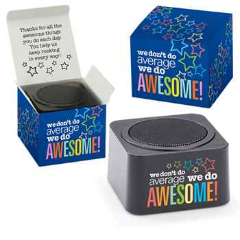 We Don't Do Average, We Do Awesome! Bluetooth® Speaker In Gift Box