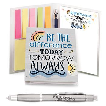 Be The Difference Today, Tomorrow, Always Stationary Folio With Stylus Pen