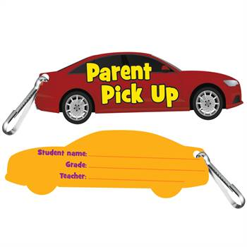 Car Parent Pick Up Clip-On Student ID Cards - 25 Per Pack
