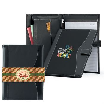 We Don't Do Average We Do Awesome leatherette Portfolio with stylus