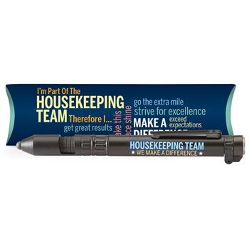 Housekeeping Team: We Make A Difference 6-In-1 Dynamo Multi-Tool Pen