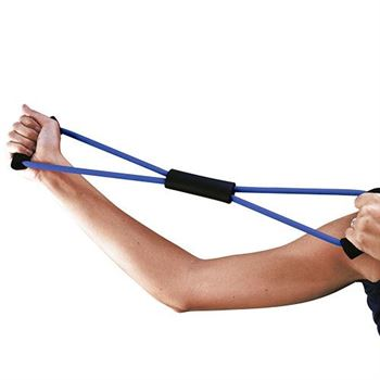 Exercise Resistance Band With Instructional Pocket Pal