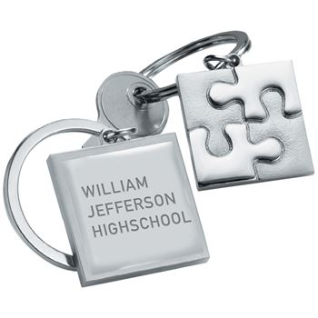 Puzzle Piece Key Ring