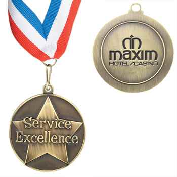 Service Excellence Torch Medallion W/ Ribbon