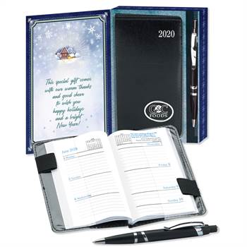 2020 Weekly Planner & Pen In Holiday Gift Box - Personalization Available