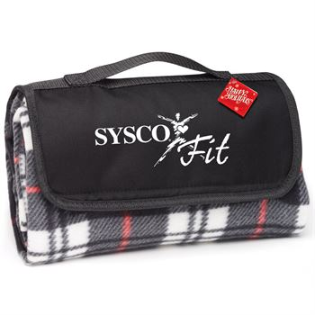 Plaid Fleece Blanket With Holiday Gift Card - Personalization Available