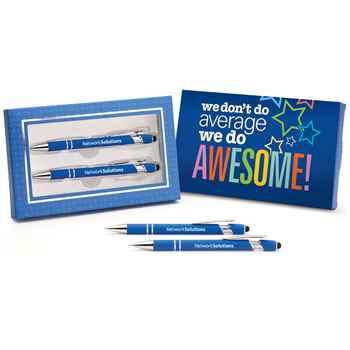 Hartford Pen & Pencil Gift Set with We Don't Do Average, We Do Awesome! GIft Sleeve - Personalization Available