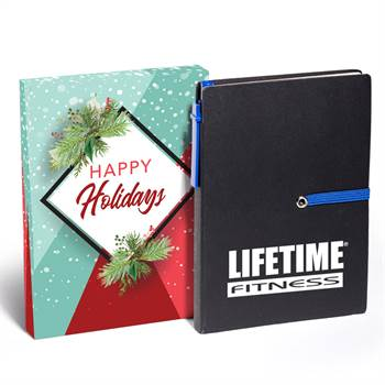 Jotter With Sticky Notes & Pen Gift Set in Holiday Gift Box - Personalization Available