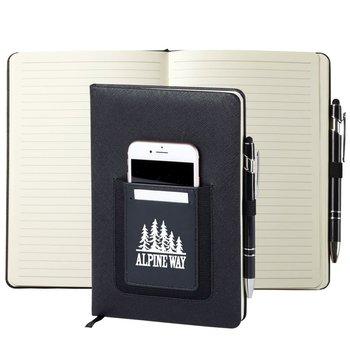 Black Northfield Phone Pocket Journal - Personalization Available