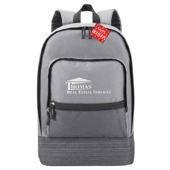 Grey Manchester Laptop Backpack With Holiday Gift Card - Personalization Available