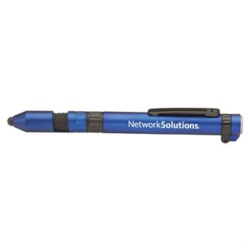 Blue 6-In-1 Dynamo Multi-Tool Pen - Personalization Available