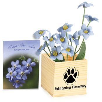Wooden Flowerpot Cube - Personalization Available