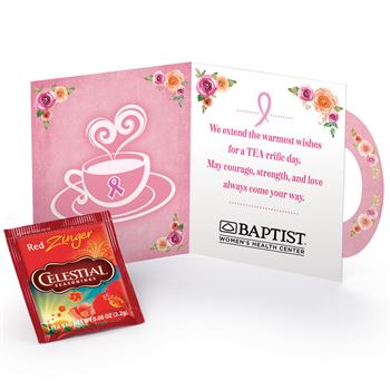 Cup of Courage, Strength, and Love Greeting Card With Tea Packet - Personalization Available