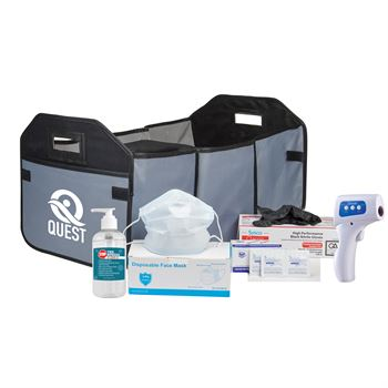 Organizer & Cooler PPE With Non-Contact Infrared Thermometer - Personalization Available