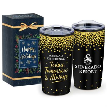 Making A Difference Today, Tomorrow & Always Teton Stainless Steel Tumbler 20-Oz. In Holiday Gift Box- Personalization Available