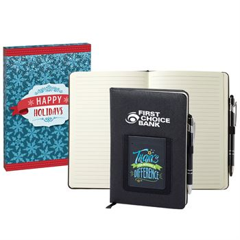 Thanks For Making A Difference Northfield Phone Pocket Journal & Stylus Pen In Holiday Gift Box - Personalization Available