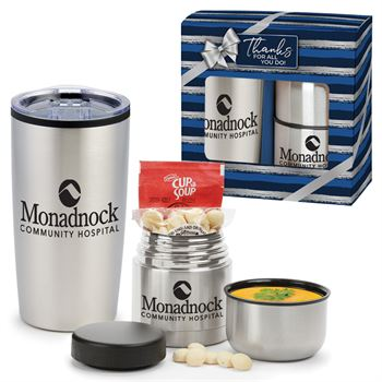 Teton Stainless Steel Tumbler & Vacuum Insulated Food Container Gift Set - Personalization Available