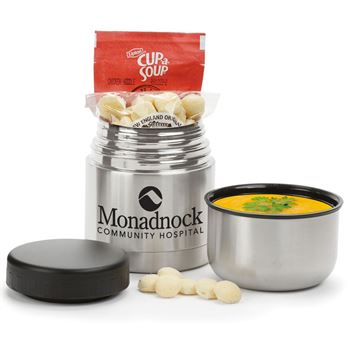 Stainless Steel Vacuum Food Container Gift Set - 1-Color Personalization Available