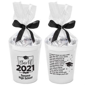Class Of 2021 Stadium Cup With Hershey's® Kisses® - Personalization Available