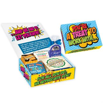 You're A Treat To Work With...Snack Attack Box with personalized appreciation card