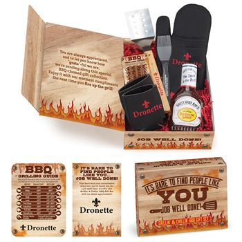 Grillin' & Chillin' BBQ Employee Care Kit With Appreciation Card- Personalization Available